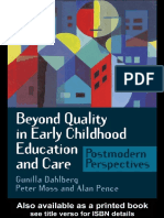Beyond Quality in Early Childhood Education and Care Postmodern Perspectives by Gunilla Dahlberg Peter Moss Alan R Pence (z-lib.org)