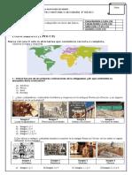 EVALUACION DIAGNOSTICA  4 HISTORIA