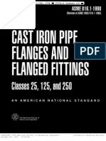 ABC B16.1 Cast Iron Pipe Flanges
