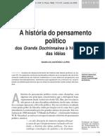 LOPES, Marcos Antônio - A história do pensamento político