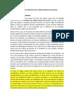 REFLEXIÓN SOBRE CAMBIOS EN MATERIA PROCESAL POR LA INFLUENCIA DE PRINCIPIOS CONSTITUCIONALES