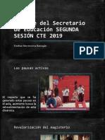 Mensaje del Secretario de Educación SEGUNDA SESIÓN CTE