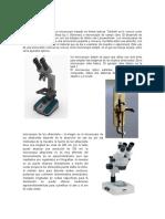 Un microscopio óptico