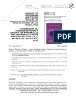 DETERMINATION OF THE CONTENT OF PHOSPHORUS AND ARSENIC, AND OF OTHER CONTAMINATING METALS OF THE SURFACE WATERS OF THE COATA RIVER, AN AFFLUENT OF LAKE TITICACA, PERU