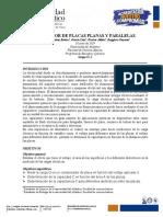 Capacitor placas planas y paralelas