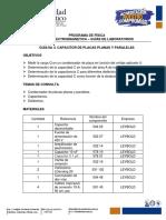 GUÍA No 4. CAPACITOR DE PLACAS PLANAS Y PARALELAS 2