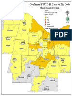 COVID-19 Case Ranges by Zip Code in Monroe County