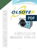 MANUAL AUTOCLAVE OLSOTEK 1800 AU