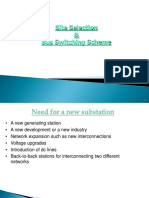 Site selection bus scheme for substation