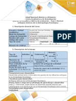 Fase 2-Guía de actividades y rúbrica de evaluación - Fase 2 - Revisar enfoques teóricos de la Antropología Psicológica