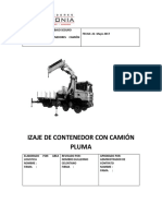IZAJE DE MATERIALES CON CAMION PLUMA