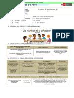 4°- I Unidad - Proyecto de Aprendizaje - Día mundial de la educación.docx