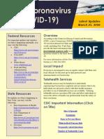 Coronavirus Update 3-25-2020