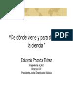Hacia dónde va la ciencia - Dr Eduardo Posada Flórez