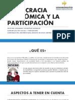 DEOMCRACIA ECONÓMICA Y LA PARTICIPACIÓN