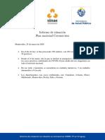 Informe de Situación Sobre Coronavirus COVID-19 en Uruguay (25 03 2020)