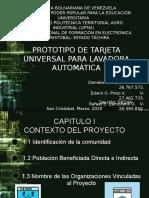 PROYECTO IV PROTOTIPO DE TARJETA UNIVERSAL PARA LAVADORA AUTOMÁTICA.
