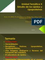 UNIDAD TEMATICA X - Estudio de los Lípidos y Lipoproteínas (1)