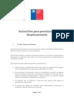 Instructivo Desplazamiento 25-03-2020