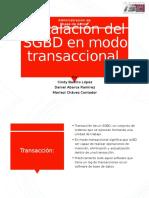2.4 Instalacion de SGBD de forma transaccional