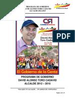 EL GOBIERNO DE LA GENTE PROGRAMA DE GOBIERNO