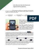 Exercise of trigonometry functions
