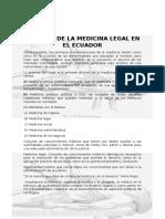 HISTORIA DE LA MEDICINA LEGAL EN EL ECUADOR