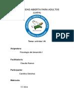 tarea #4 de psicologia del desarrollo I