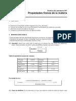 Práctica 1 - Propiedades físicas de la materia