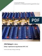 256 Relays! - Arduino Project Hub