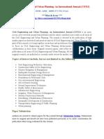 Civil Engineering and Urban Planning