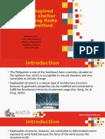 Origami-inspired deployable shelter analysis using finite element method Presentation