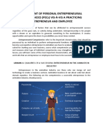 ASSESSMENT OF PERSONAL ENTREPRENEURIAL COMPETENCIES
