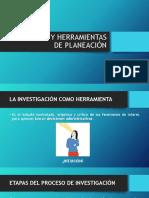 TÉCNICAS Y HERRAMIENTAS DE PLANEACIÓN