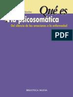 ¿QUÉ ES LA PSICOSOMÁTICA (Qué es...) - Teresa Sánchez Sánchez