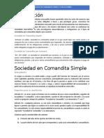 Sociedad Comandita Simple y por Acciones