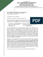 demand letter pacada