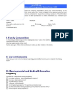 Child and Adolescent Developmental History Form # 6180
