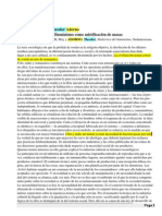 La Industria Cultural - Iluminismo Como Mistificacion de Masas - Adorno + Horkheimer