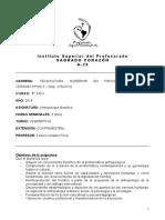 Planificación Antropología -  (cuatrimestral)
