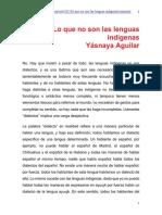Lo que no son las lenguas indígenas