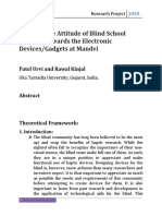 To Study the Attitude of Blind School Students towards the Electronic Devices.docx