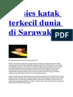 Spesies Katak Terkecil Dunia Di Sarawak
