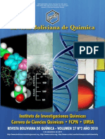 Bolivian Journal of Chemistry Vol 27 N 2 2010 Front cover