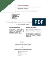 Tecnicas para desarrollar el estudio del trabajo