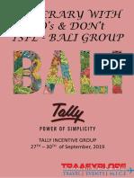 Bali Dos & Dont