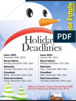 2010 Holiday Deadlines