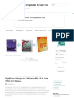 Significant Changes to Philippine Electrical Code (PEC) 2017 Edition – Electrical Engineer Resources