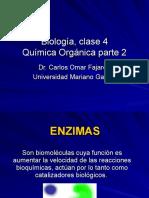 Biologia clase 4 Enzimas