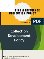 07 Developing a Reference Collection Policy - Presentation (Elejorde, R.C.).pptx